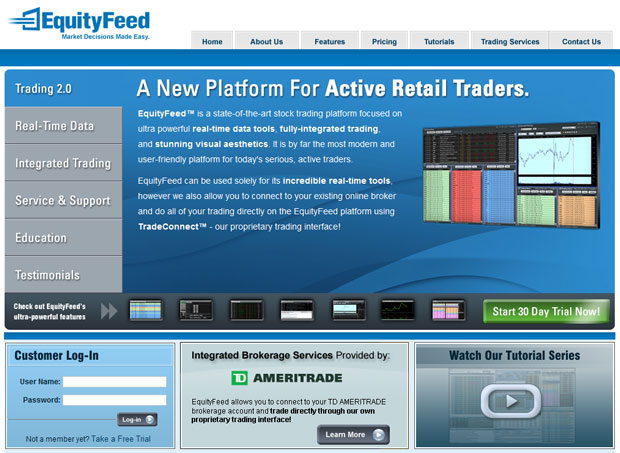 Trading Stocks Online with EquityFeed